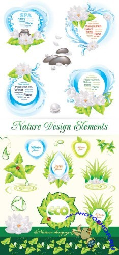 Nature Design Elements - Vector | Элементы дизайна об экологии и природе