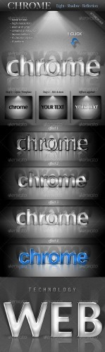 GraphicRiver - Chrome Light Shadow Reflection Actions | ������ ���� � ����� � ����������