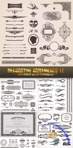Stock Vector - Decorative Ornaments 12 | Декоративные элементы 12