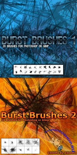 Burst Brushes Pack for Photoshop or Gimp