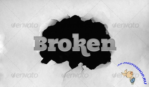 Broken paper (hole in a paper) – GraphicRiver