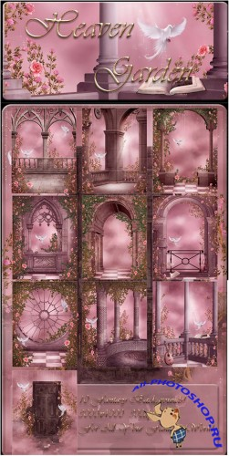 Heaven Garden backgrounds by Moonchild-ljilja
