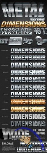 Dimensions Metal Version - 3D Generator Action - GraphicRiver