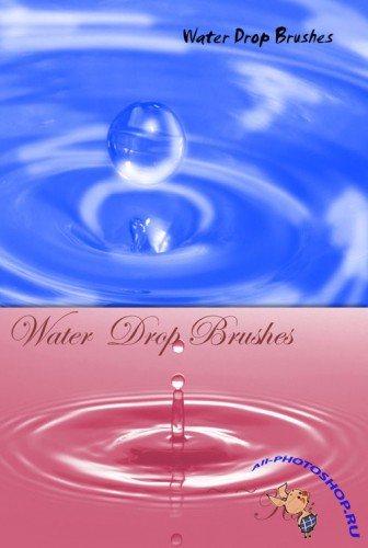 Water Drop Brushes for Photoshop