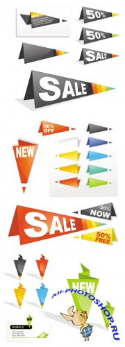 Sale Tag Origami Vector