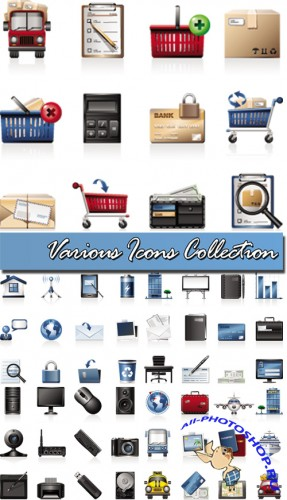Various Icons Collection Vector
