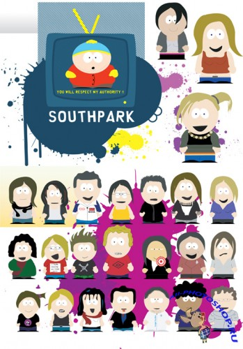 Vector South Park Cartoons