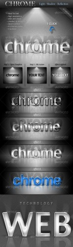 Chrome Light Shadow Reflection Actions