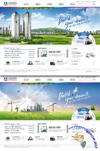 Business web templates - build your dream world
