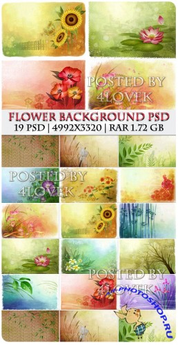 Flower Background PSD (RePack)