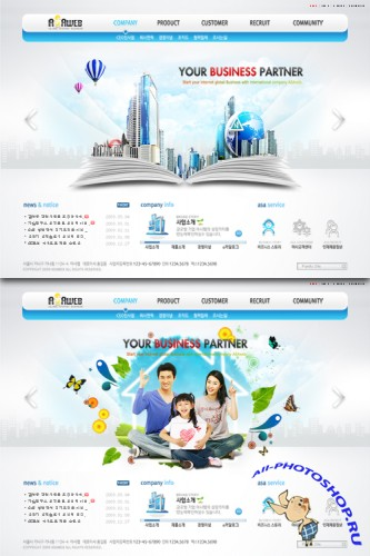 PSD Web Templates - Your Business Partner