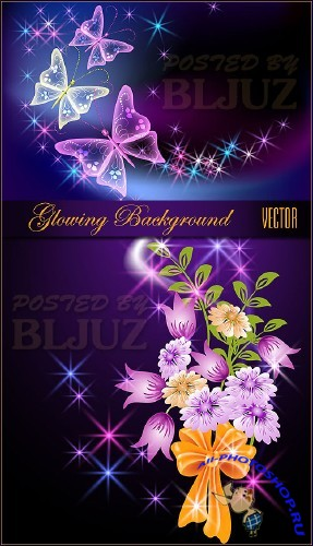 Spring Glowing Background Vector