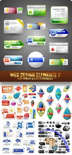 Stock Vector - Web Design Elements 2 | Элементы web-дизайна 2