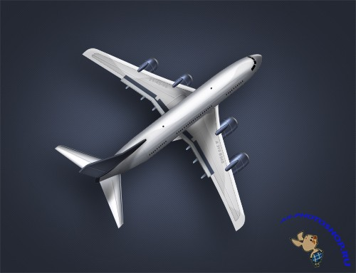 A plane illustration in psd file