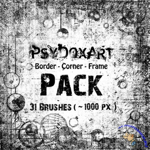 Border Corner Frame Brushes for Photoshop