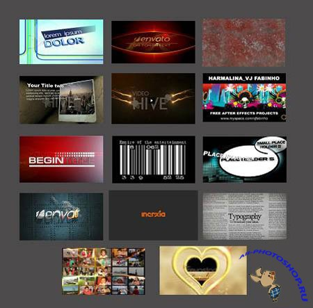 After Effects Project - From VideoHive: Part 1
