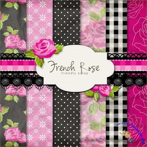 Scrap-set - French Rose