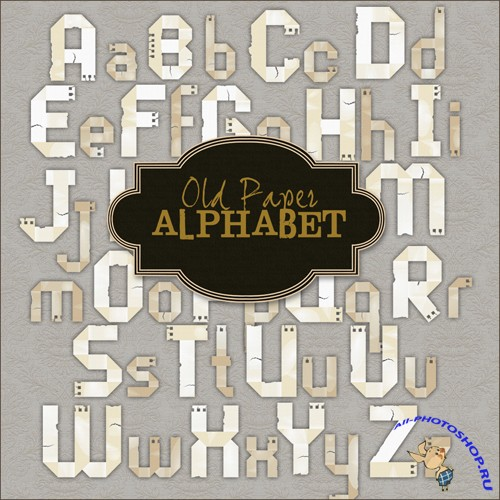 Scrap-kit - Old Paper Alphabet