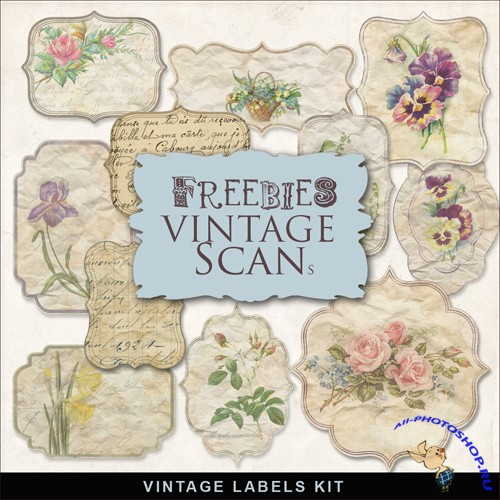 Scrap-kit - Vintage Labels #1