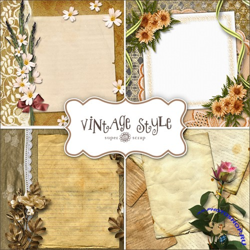 Backgrounds in Vintage Style