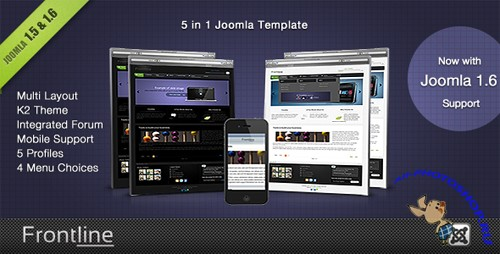 ThemeForest - Frontline - A Clean Professional Joomla Template