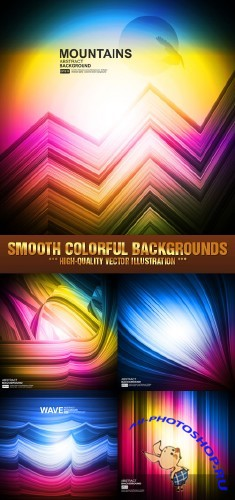 Stock Vector - Smooth Colorful Backgrounds | Цветной гладкий фон