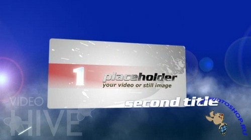 Videohive Titles Fly Through Clouds