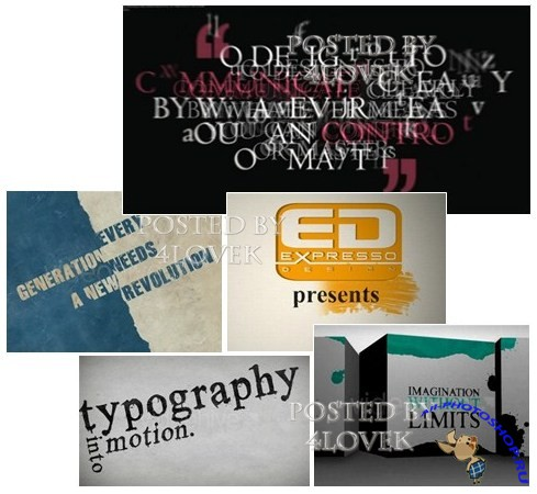 Videohive Typograph Pack