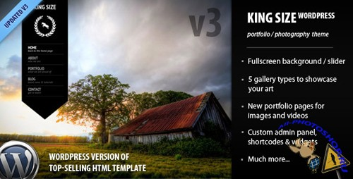 ThemeForest - King Size - fullscreen background WordPress theme v.3