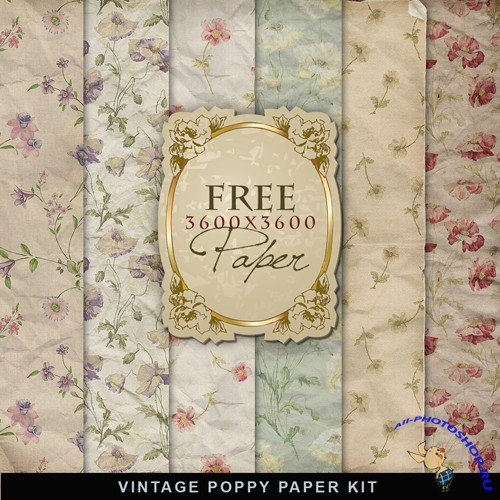Textures - Vintage Poppy Papers
