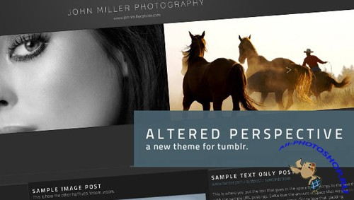 Mojo themes - Altered Perspective – Tumblr Theme