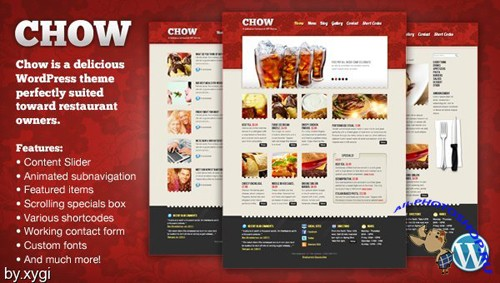 MojoThemes - Chow Delicious WordPress Restaurant Theme RECODED TO HTML - FULL RIP