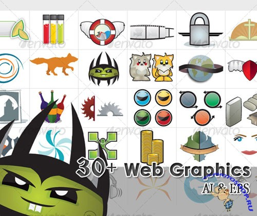 GraphicRiver - 30 Web Elements and Illustrations