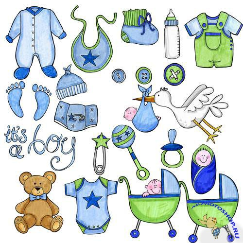 PSD Clipart - Little boy