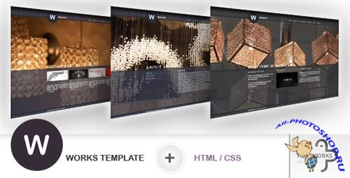 ThemeForest - W WORKS Template - HTML/CSS (3 SKINS) - Rip