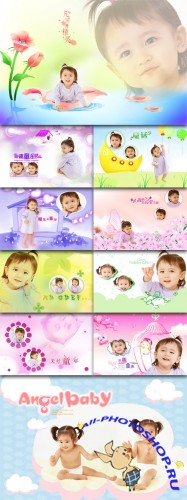 Children Photo Templates - To love life, childhood, family charm