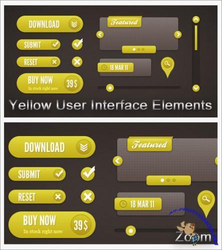 Yellow User Interface Elements