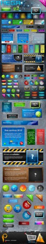 Graphicriver - Mega Web 2.0 Elements v2