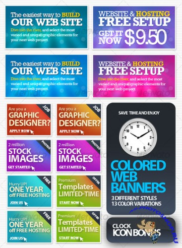 Colored Web Banners - GraphicRiver