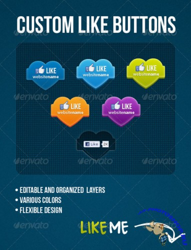 CUSTOM LIKE BUTTON - GraphicRiver