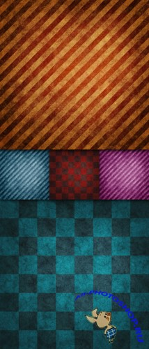 Checkered And Stripes Grunge Textures