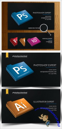 PSD Template - Black Designer Business Card