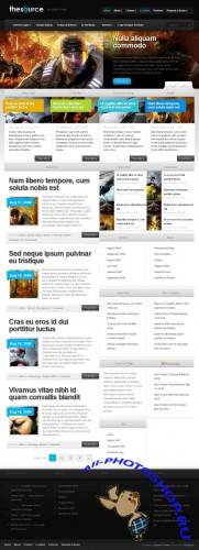 The Source premium WordPress Theme