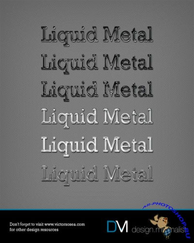 Liquid Metal Photoshop Styles