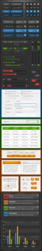 Ultimate GUI Web Elements Dark & Light Edition - GraphicRiver
