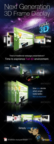 3D Frame Generator � Full 3D Actions - GraphicRiver
