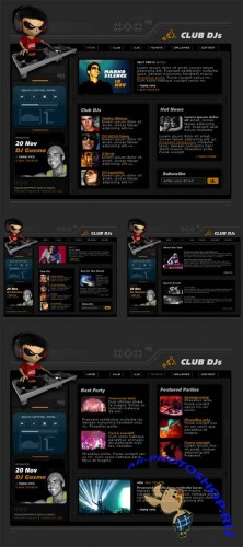 DJ Web site - PSD Template