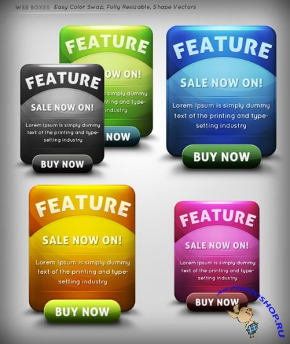 GraphicRiver - Web Boxes