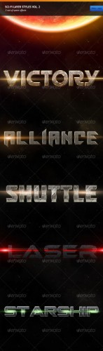 GraphicRiver - Sci-fi Layer Styles Vol. 2