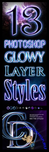 Free Glowy Photoshop Styles